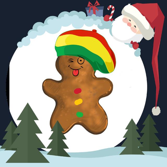 #FreeToEdit  #gingerbreadman #gingerbread #rasta #merrychristmas