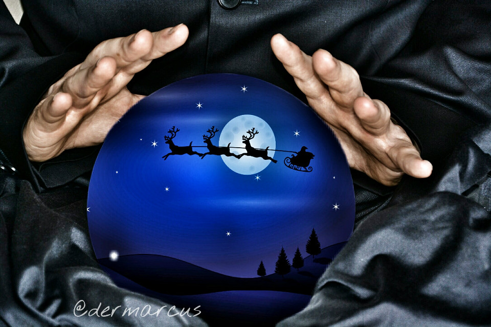 #wapholidaybackground  #christmas #santaclaus  #magic  #black  #blue  #hands  #sky