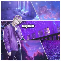 jin seokjin kpop bts purple