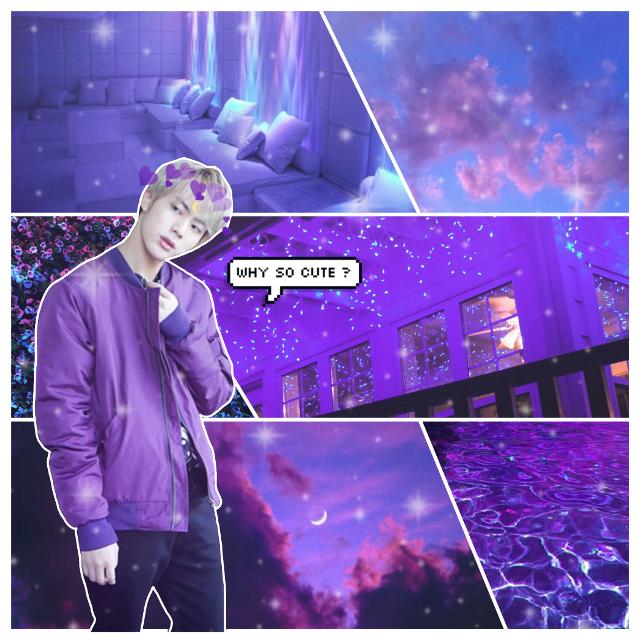 #jin #seokjin #kpop #bts #purple #edit #cute #text
