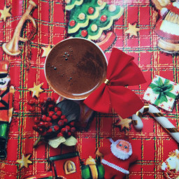 coffee santa candy christmas