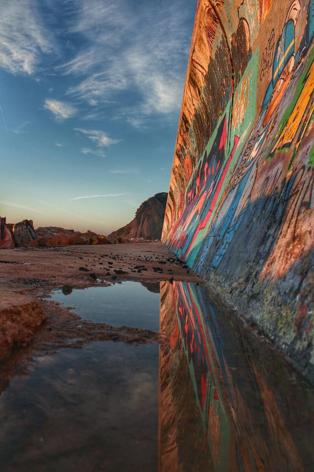 #reflection #water #hdr #wall #streetart #streetphotography #photography #streetshot  #pcsunrise