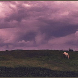 horses likeapainting clouds skyscape cloudporn