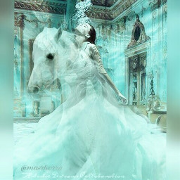 freetoedit water float horse dress echumananimalhybrid ecunderwater