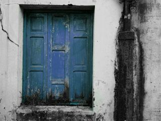 window blue retro vintage minimal