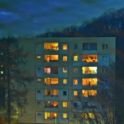 architecture photography dusk light night