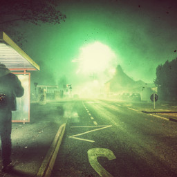 night fireworks streetphotography nightphotography green