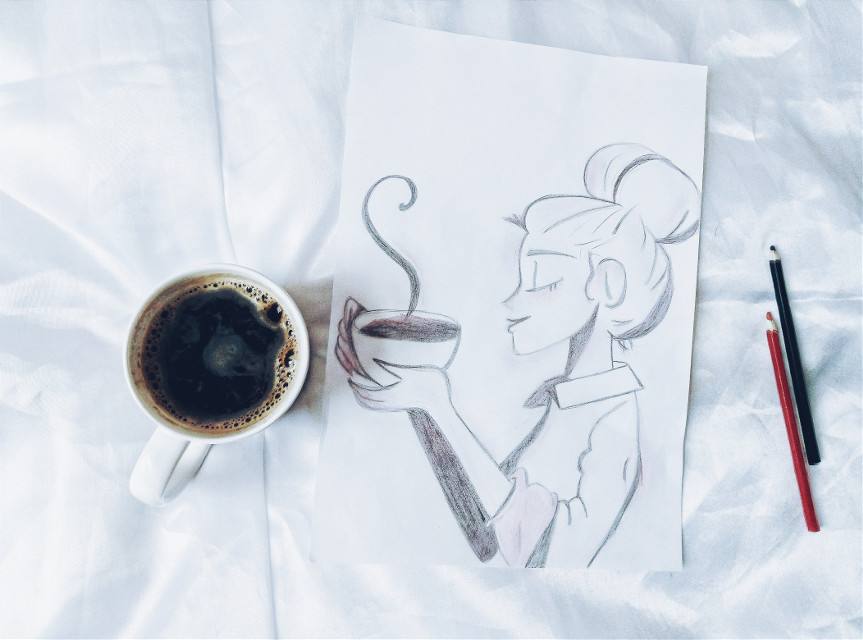 #mypic  #myart  #coffeelovers  #myday  #mylife  #happy  #girl  #picture  #FreeToEdit