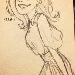 sketch myart animegirl