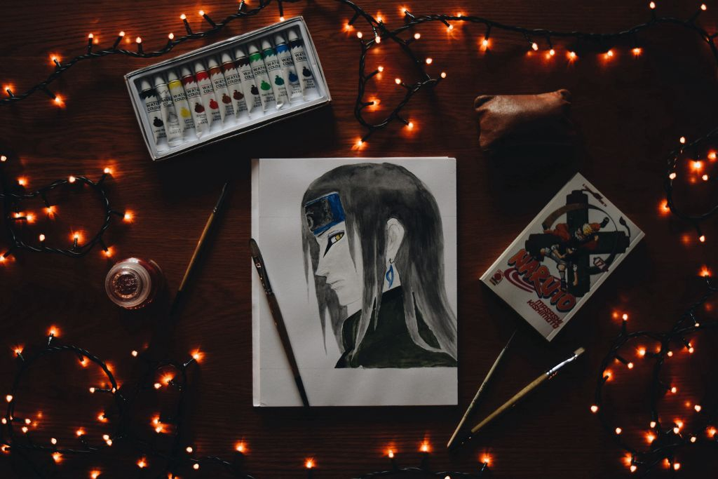 Don't judge me :) #FreeToEdit #Orochimaru #Naruto #Art #My #Drawing #Color #Colorful #Lights #Japan #Style #Snake #photography