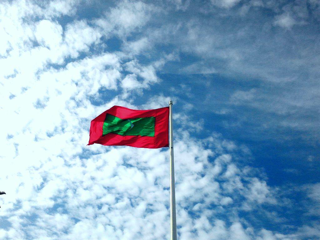 Maldives Flag Beach Colorful Photography Summer