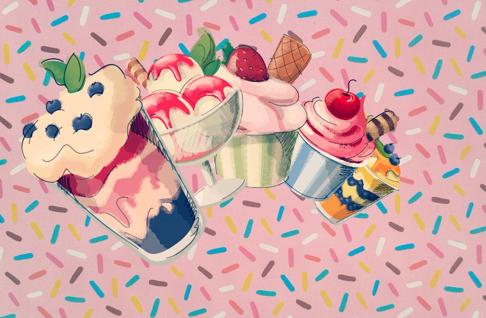 #FreeToEdit  #icecream #pink #sweet #cute #wallpaper