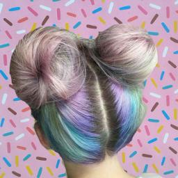 freetoedit remixed popart sprinkles hair