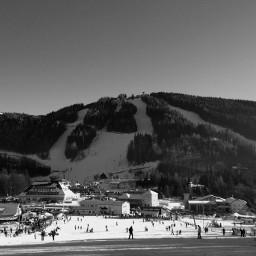blackandwhite skiing beatifulday people