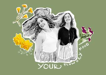 freetoedit blackandwhite girls nature flower