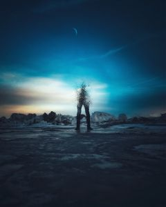 art madewithpicsart antonsquare moon winter