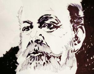 drawing ink theprometeus portrait