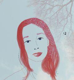 digital drawing exposure red white