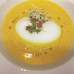 celeriac carrot soup crabmeat chefnung