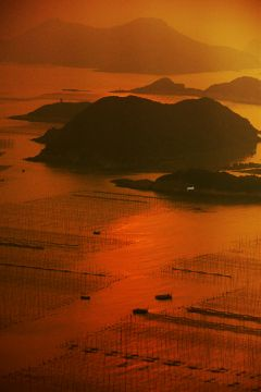 sunset evening boats photograph oceandrive