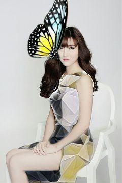 freetoedit butterfly beauty dress girl