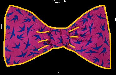 ftestickers bowtie pink outline birds