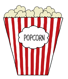 ftestickers popcorn freetoedit